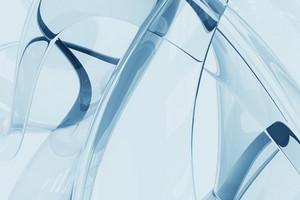 Glassy Blue Background