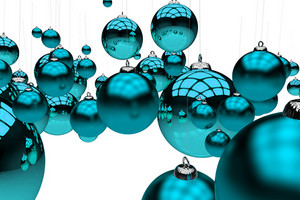 Glassy Blue Ornaments