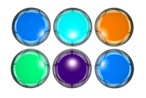 Glassy Button Icons