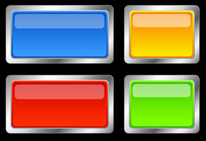 Glassy Buttons Vectors