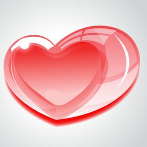 Glassy Heart Design