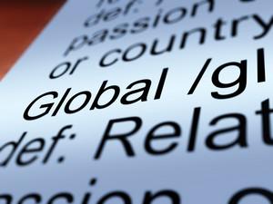 Global Definition Closeup Showing Worldwide Or International