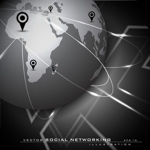 Global Social Network Background