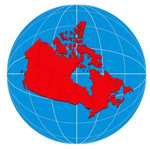 Globe Canada Map