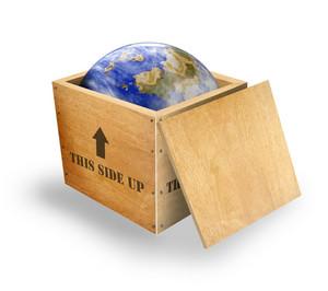 Globe Crate Retro
