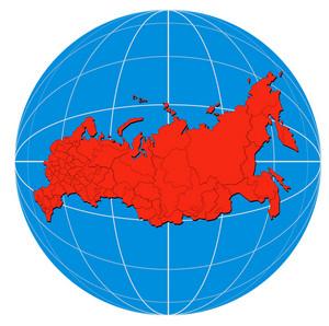 Globe Russia Map