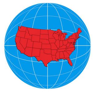 Globe Usa Map