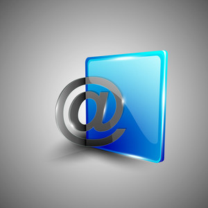 Glossy 3d Web 2.0 Email Address 'at' Symbol Icon Set.
