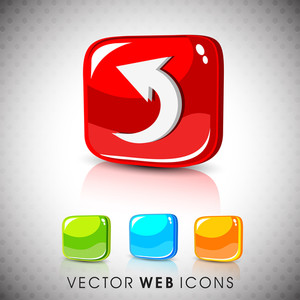 Glossy 3d Web 2.0 Left Arrow Symbol Icon Set 10