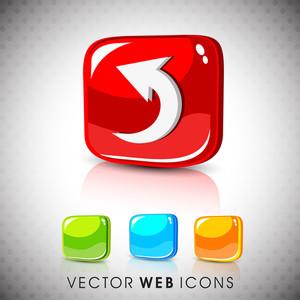 Glossy 3d Web 2.0 Left Arrow Symbol Icon Set 10