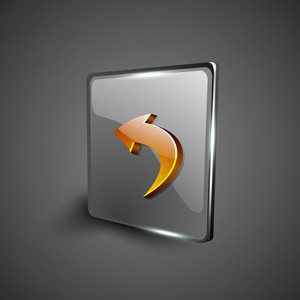 Glossy 3d Web 2.0 Left Arrow Symbol Icon Set.