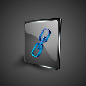Glossy 3d Web 2.0 Link Or Connect Symbol Icon Set.