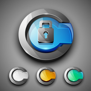 Glossy 3d Web 2.0 Lock