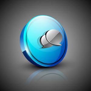 Glossy 3d Web 2.0 Messenger Symbol Icon Set 10