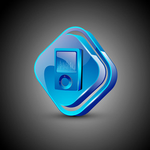 Glossy 3d Web 2.0 Mp3 Symbol Icon Set.