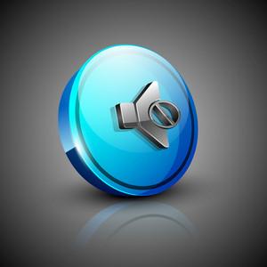 Glossy 3d Web 2.0 Mute Symbol Icon Set.