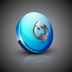 Glossy 3d Web 2.0 Refresh Symbol Icon Set.