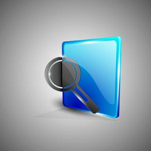 Glossy 3d Web 2.0 Search Symbol Icon Set.