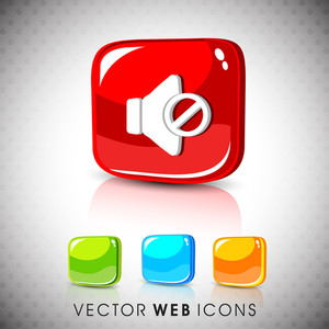 Glossy 3d Web 2.0 Shopping Cart Symbol Icon Set.