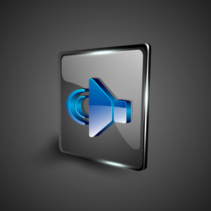Glossy 3d Web 2.0 Sound Symbol Icon Set.