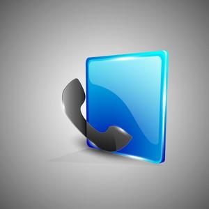 Glossy 3d Web 2.0 Telephone