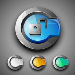 Glossy 3d Web 2.0 Unlock