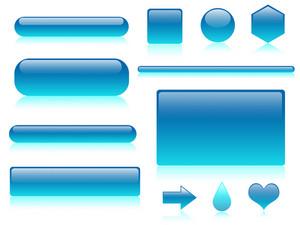 Glossy Aqua Buttons