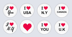 Glossy Badge And Buttons Vectors