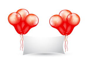 Glossy Balloons Bunch Banner