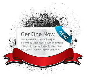 Glossy Banner With Grunge Vector Illustration