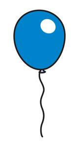 Glossy Blue Balloon