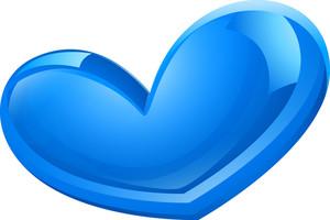 Glossy Blue Heart