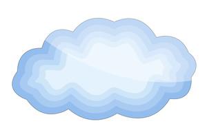 Glossy Cloud Shape
