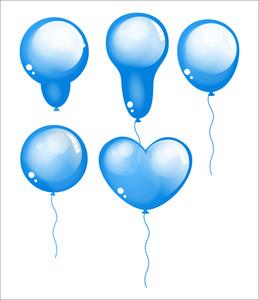 Glossy Festive Balloons