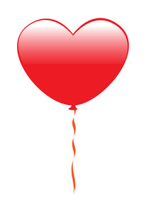 Glossy Heart Balloon