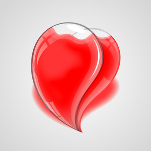 Glossy Heart Illustration