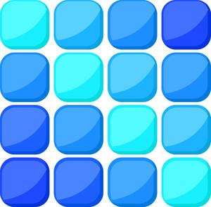 Glossy Mosaic Pattern