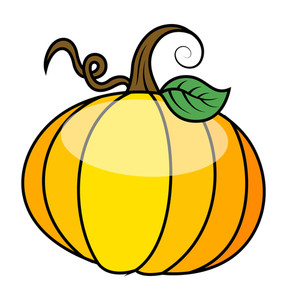 Glossy Pumpkin Vector Illustration
