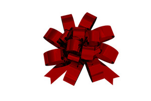 Glossy Red Bow