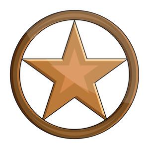 Glossy Retro Star