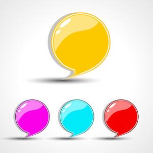 Glossy Speech Bubble Set.