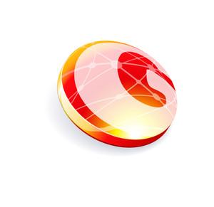 Glossy Spheres Abc. Letter G. Vector.
