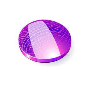 Glossy Spheres Abc. Letter I. Vector.