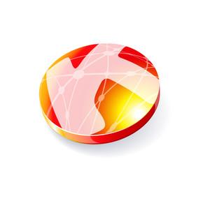 Glossy Spheres Abc. Letter K. Vector.