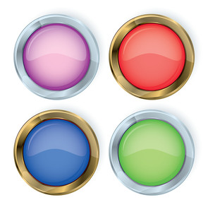 Glossy Vector Buttons.
