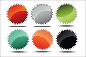 Glossy Vector Tags