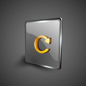 Glossy Web 2.0 Music Icon Button.