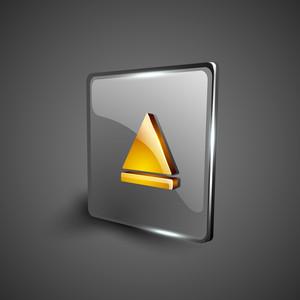 Glossy Web 2.0 Music Icon.