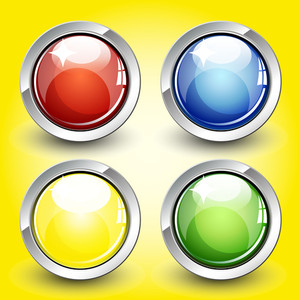 Glossy Web Buttons Vectors