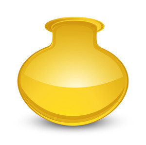 Glossy Yellow Cauldron Vector